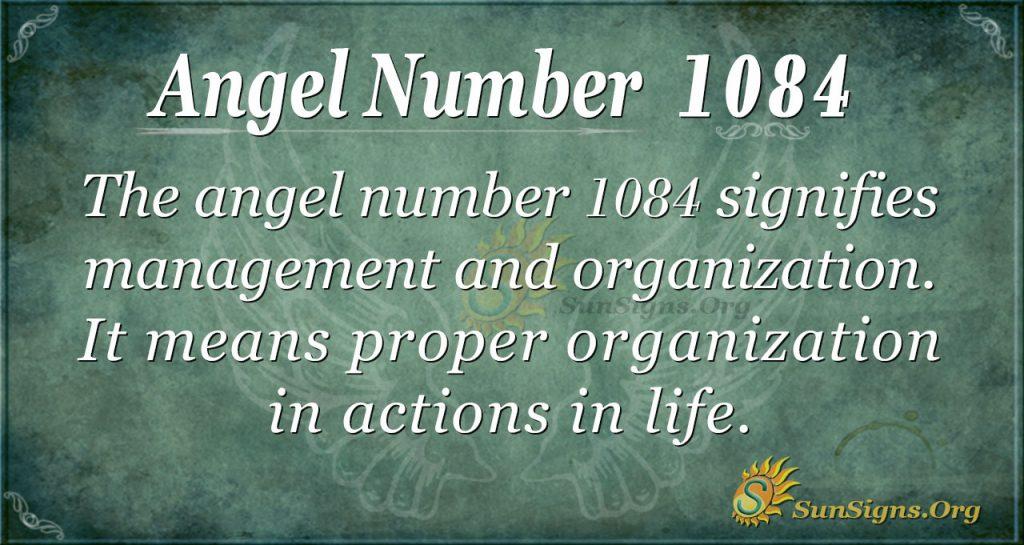 angel number 1084