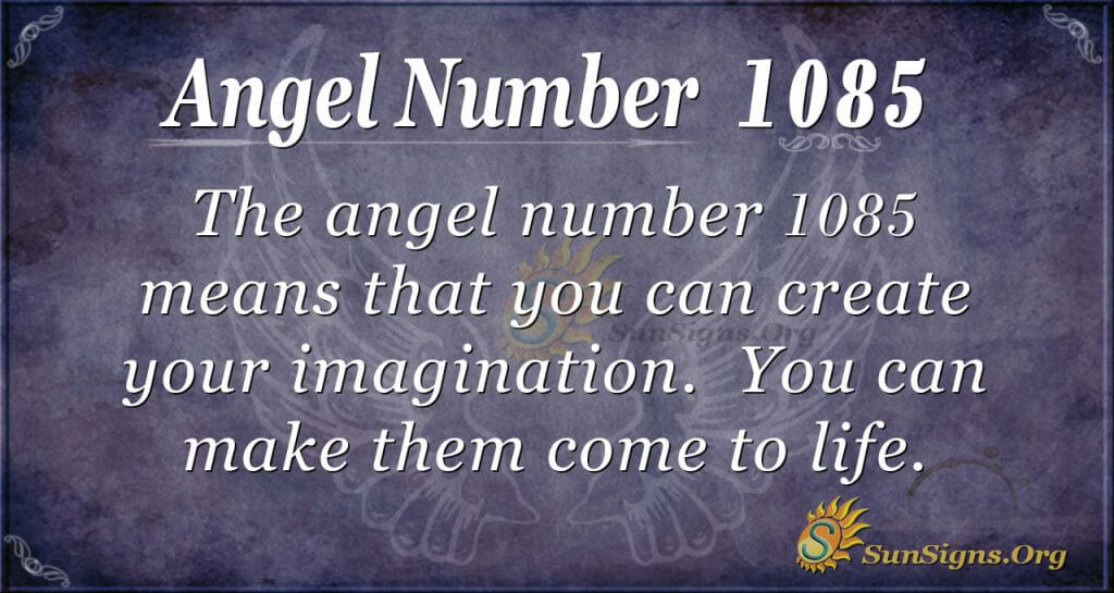 angel number 1085