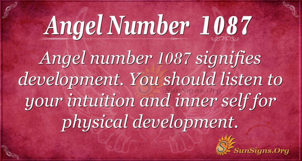 angel number 1087