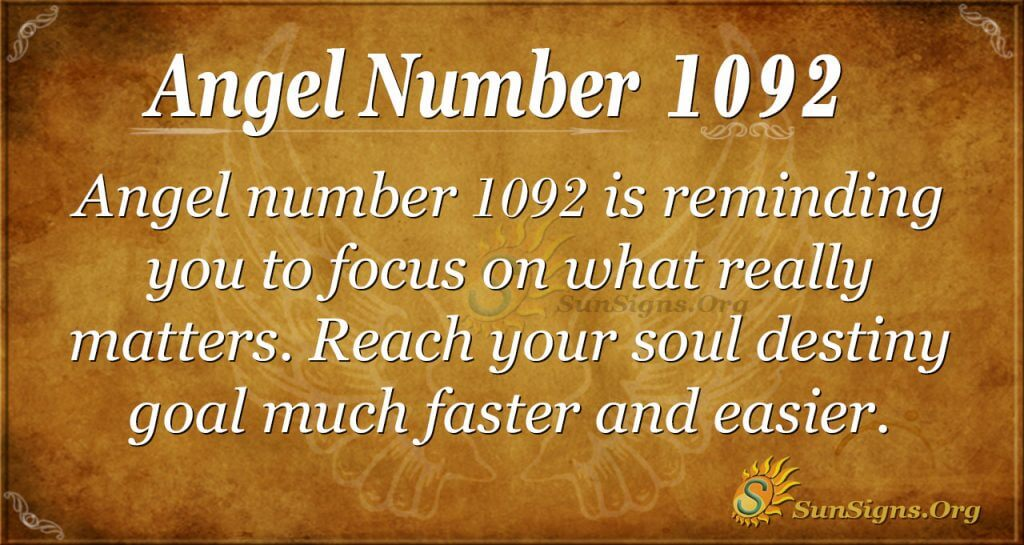 angel number 1092