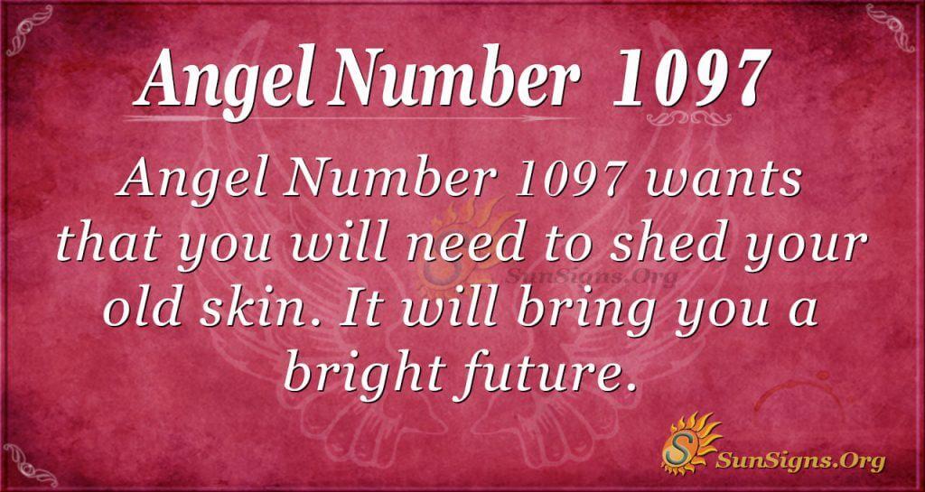 angel number 1097