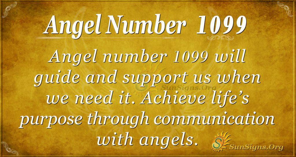 angel number 1099