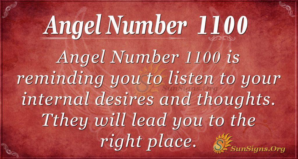 angel number 1100