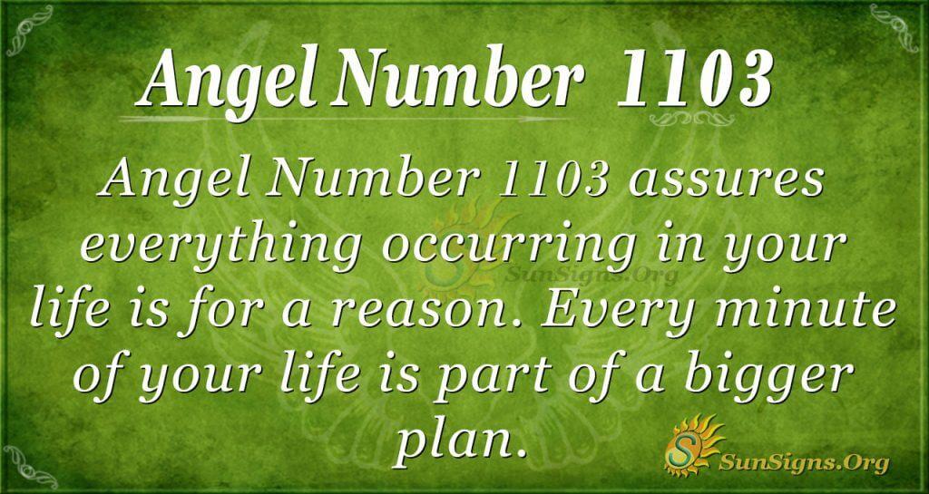 angel number 1103