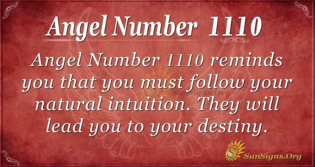 angel number 1110