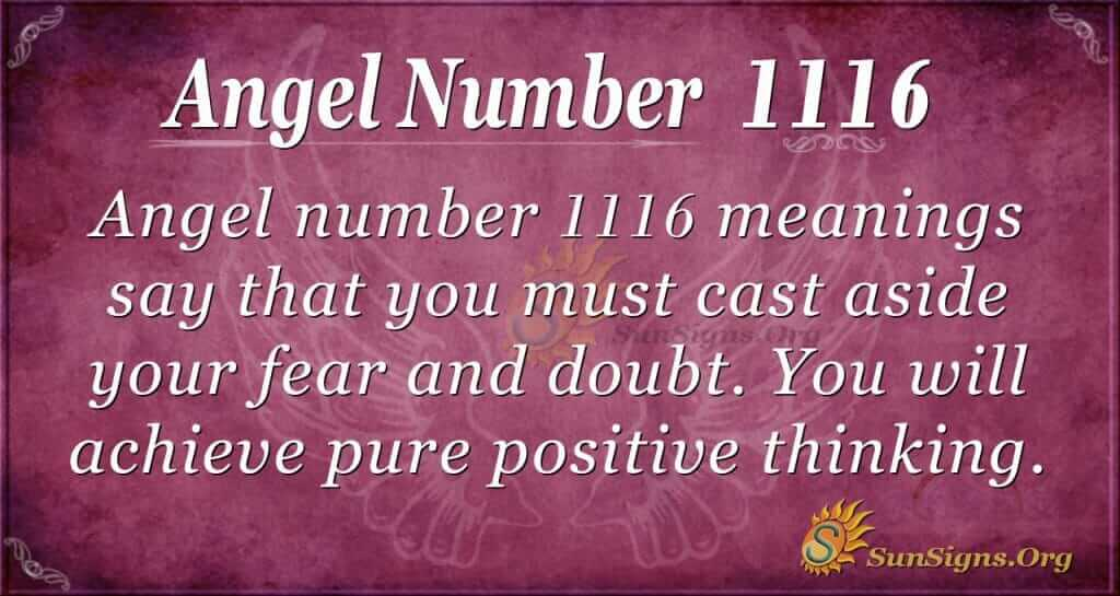 angel number 1116