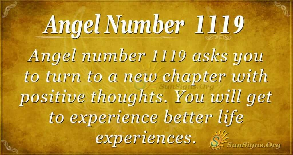 angel number 1119