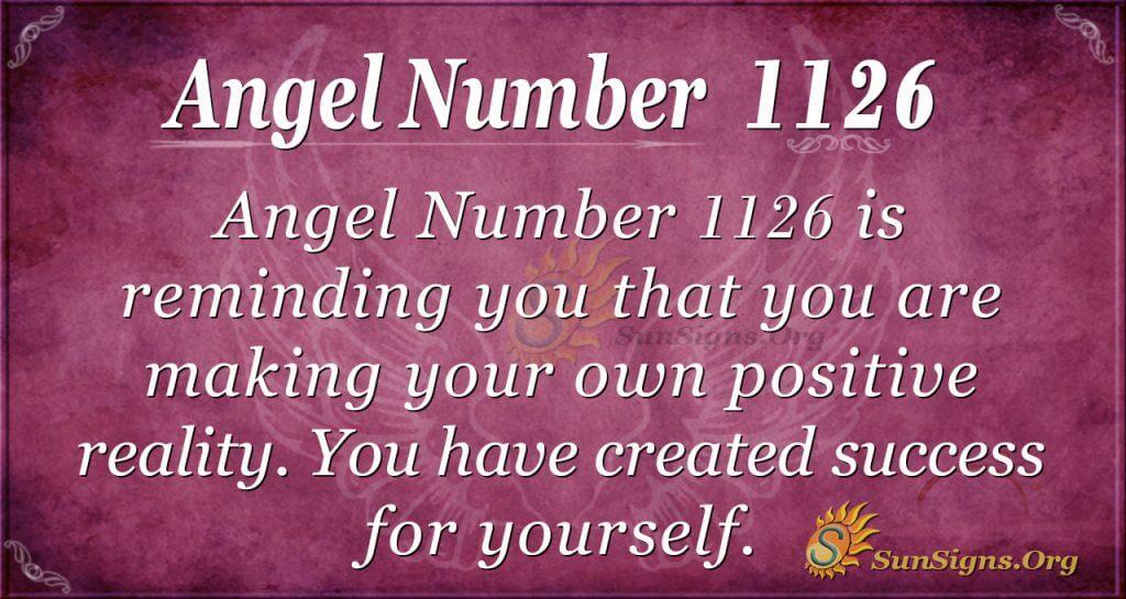 angel number 1126