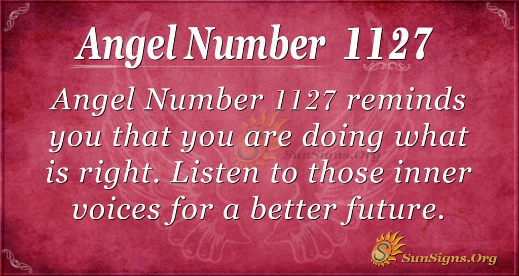 angel number 1127