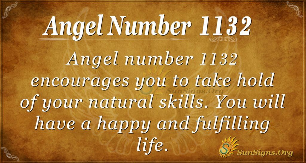 angel number 1132
