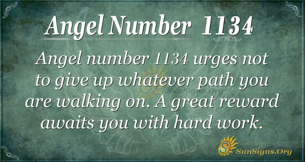 angel number 1134