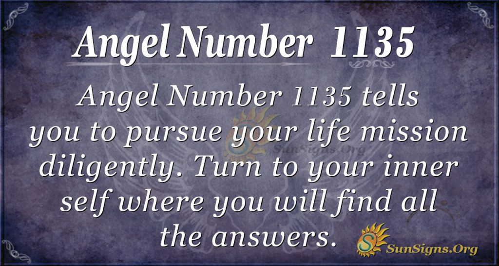 angel number 1135