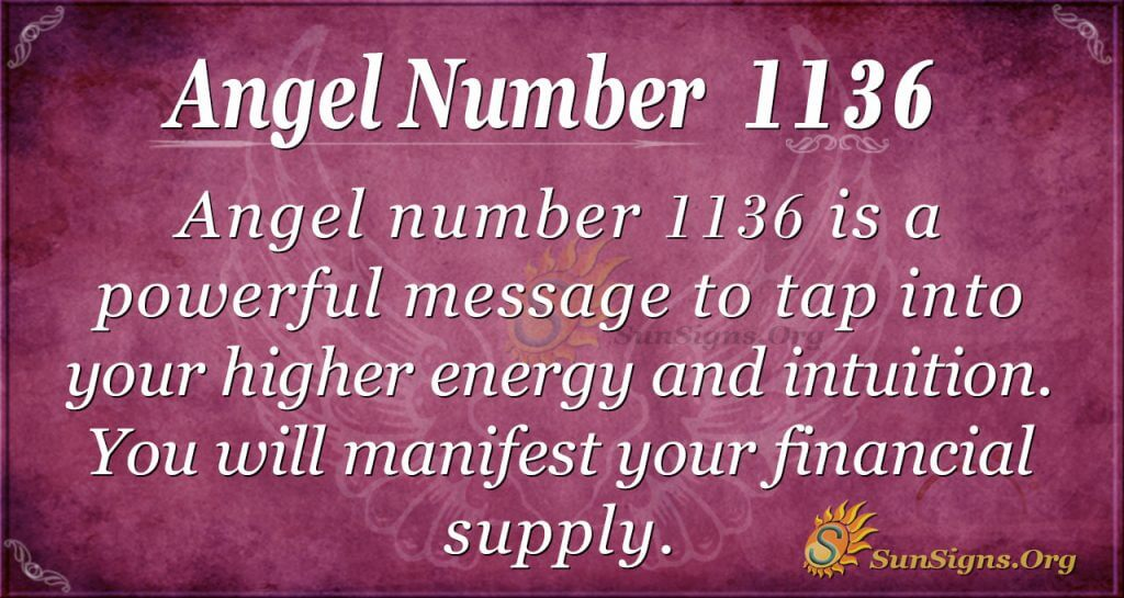 angel number 1136
