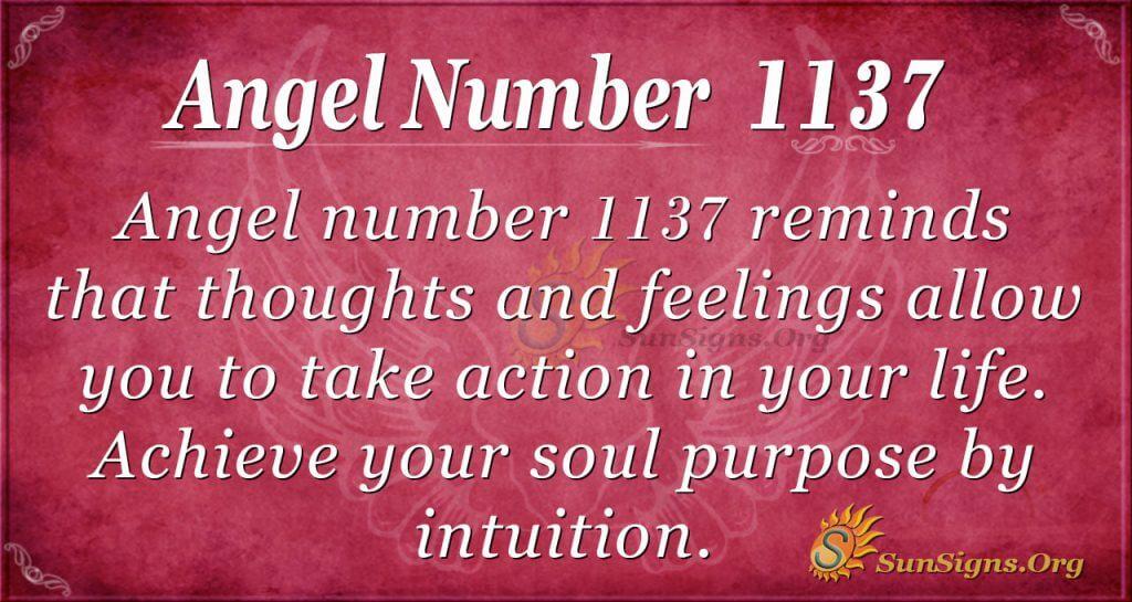 angel number 1137