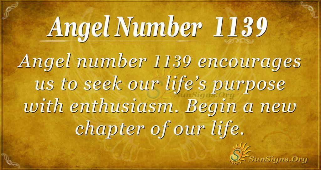 angel number 1139