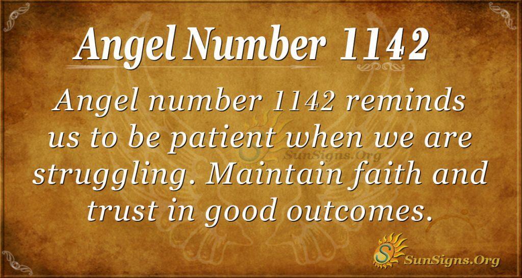 angel number 1142