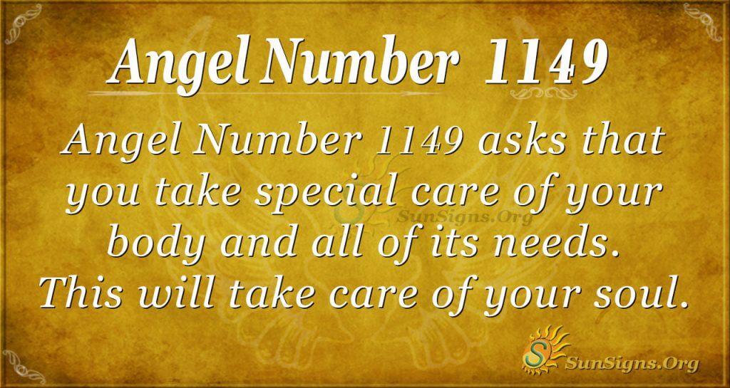 angel number 1149