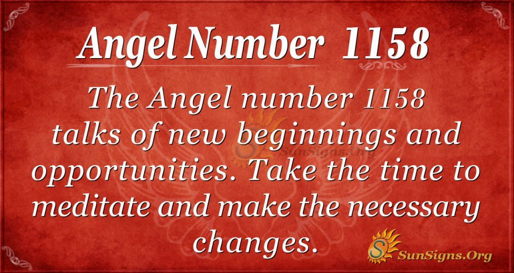 angel number 1158