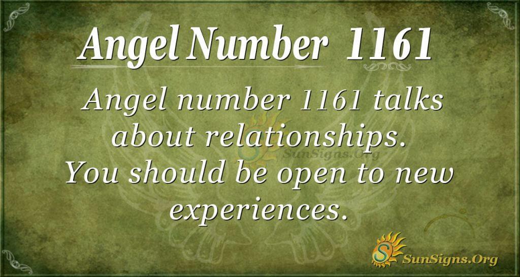 angel number 1161