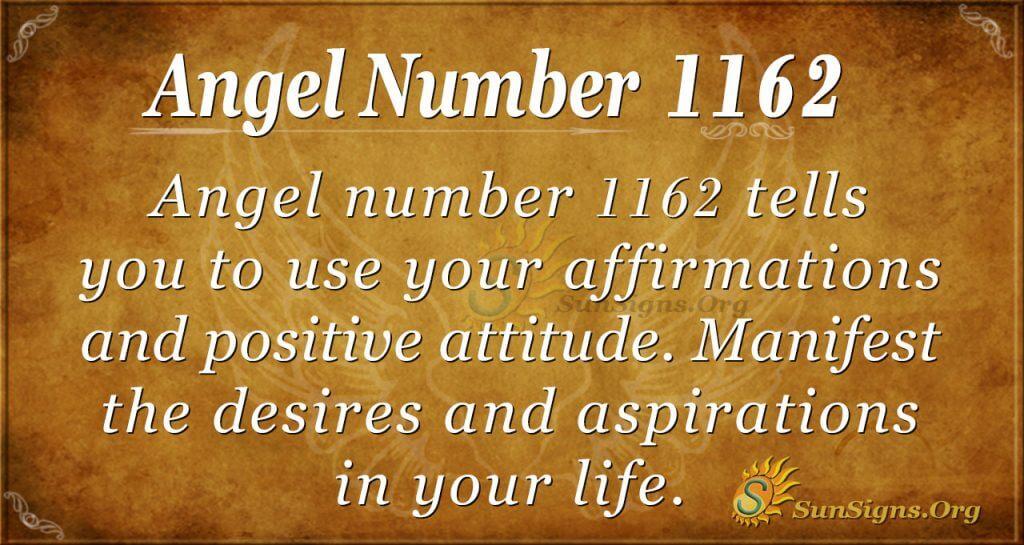 angel number 1162