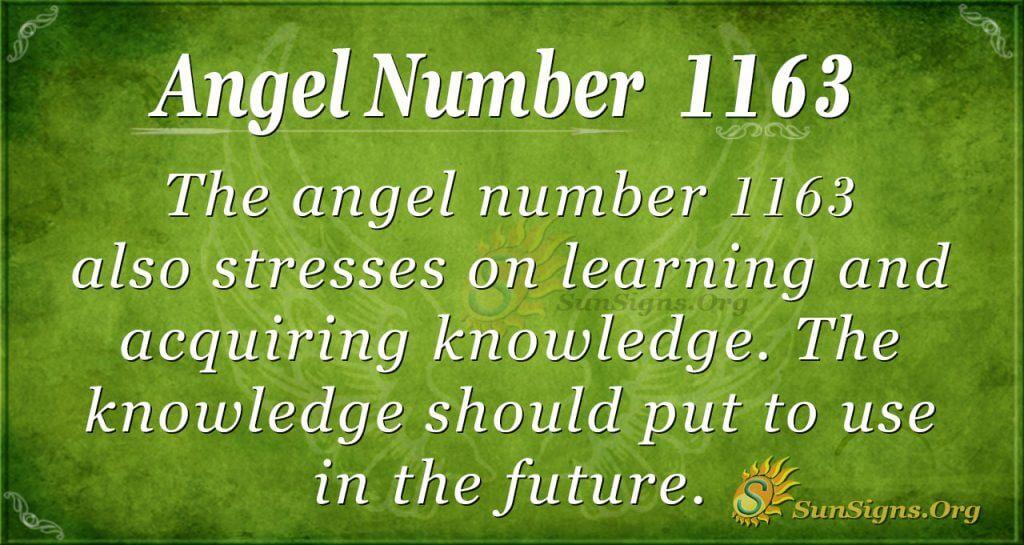angel number 1163