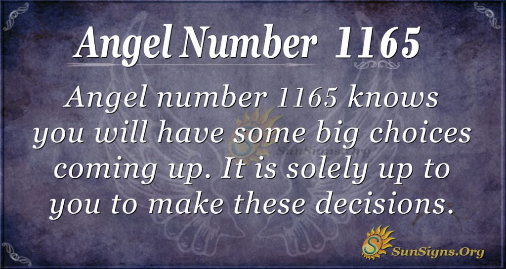 angel number 1165