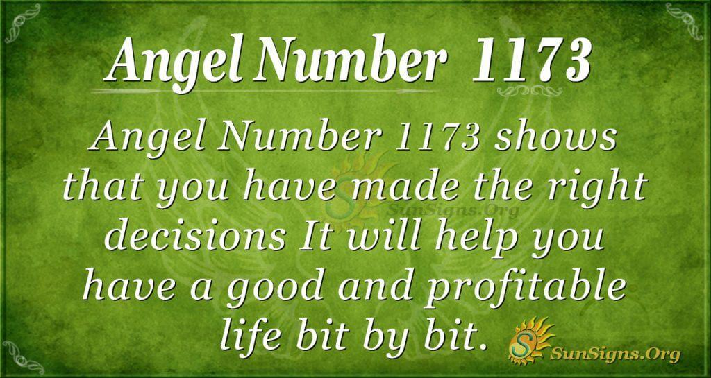 angel number 1173