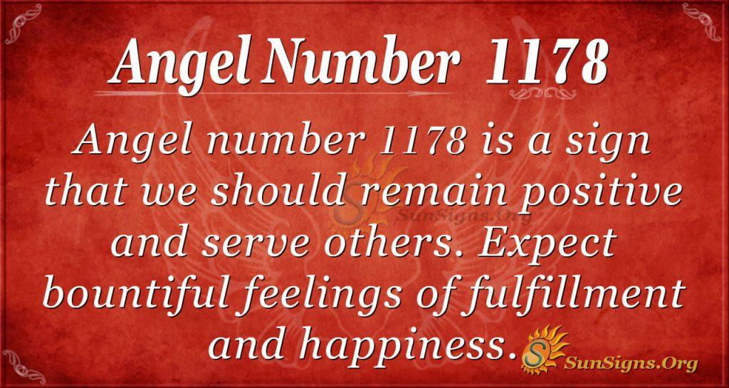 angel number 1178