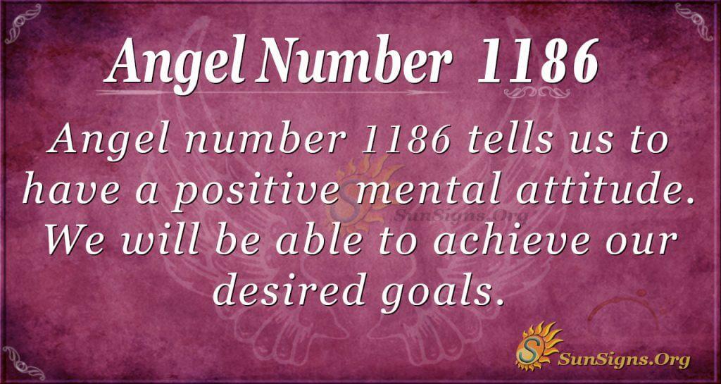 angel number 1186