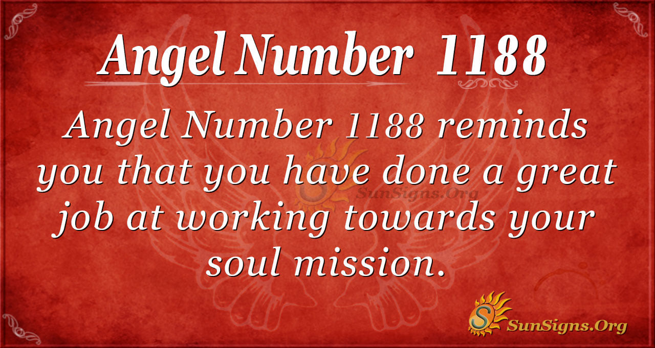 Angel Number 1188 Meaning