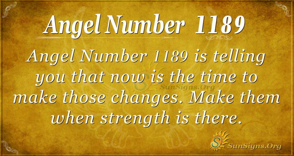 angel number 1189