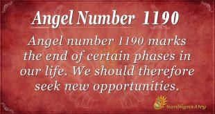 angel number 1190