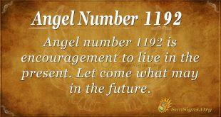 angel number 1192