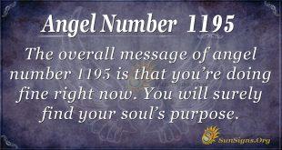 angel number 1195