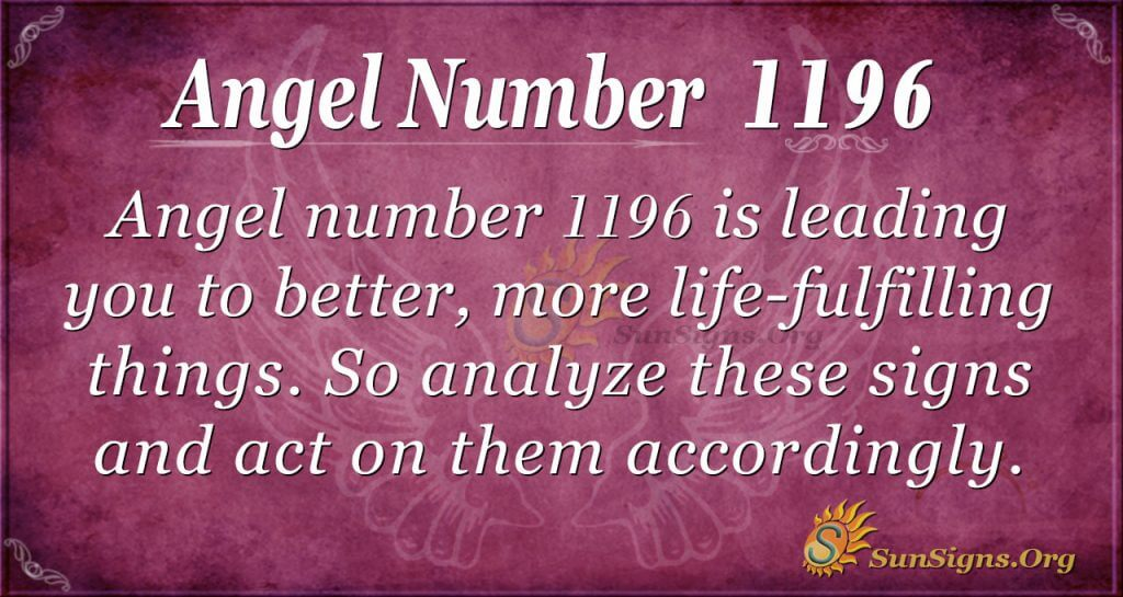 angel number 1196