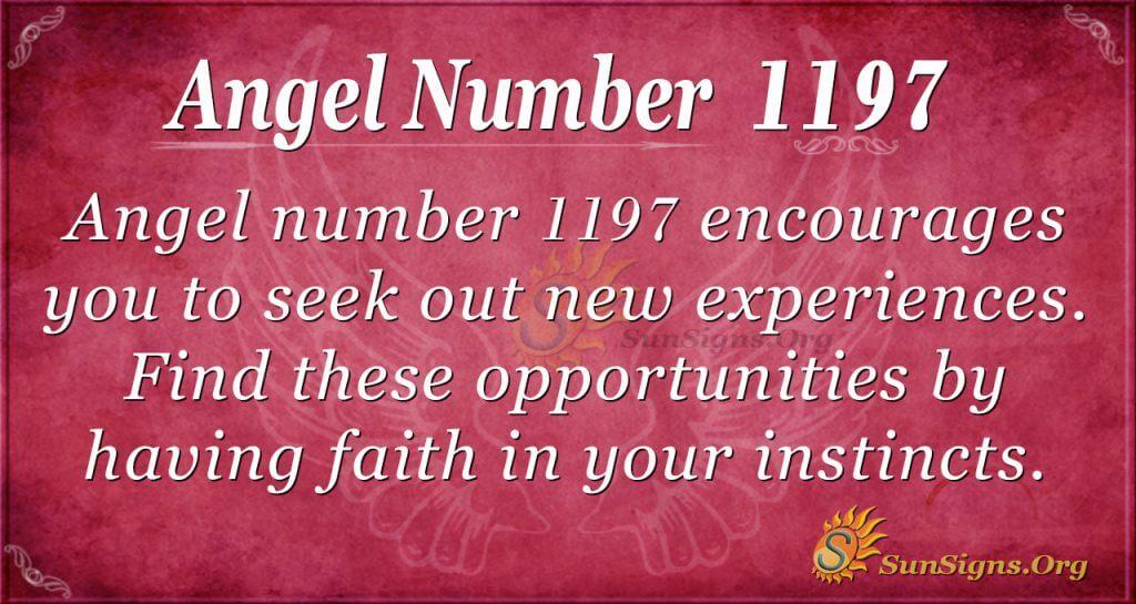 angel number 1197