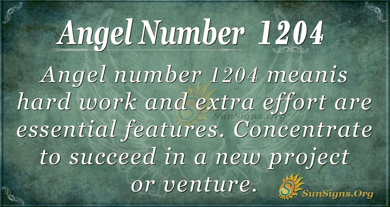 Angel Number 1204 Meaning