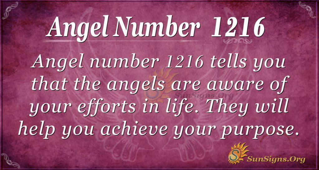 angel number 1216