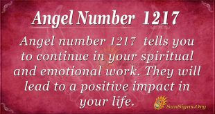 angel number 1217