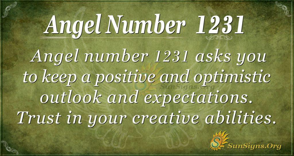 angel number 1231