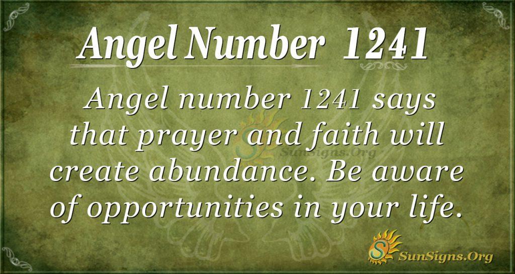 angel number 1241