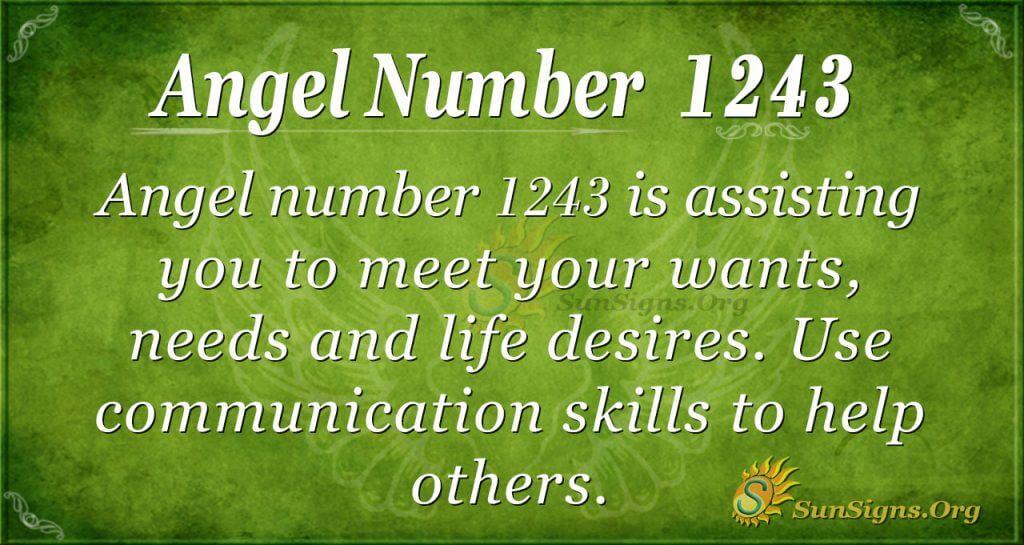 angel number 1243