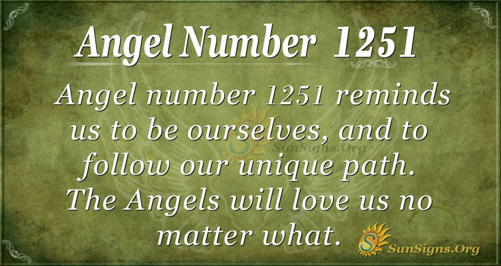 angel number 1251