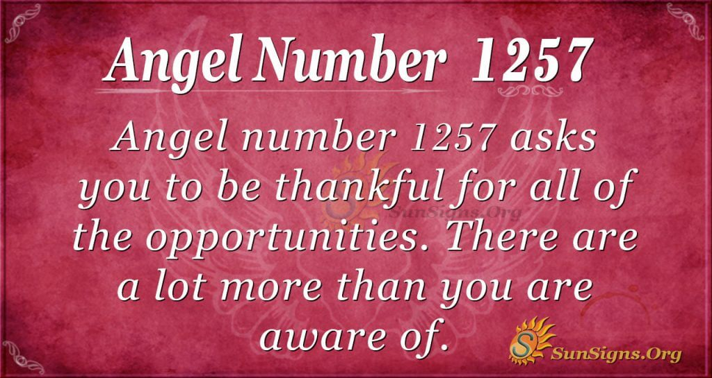 angel number 1257
