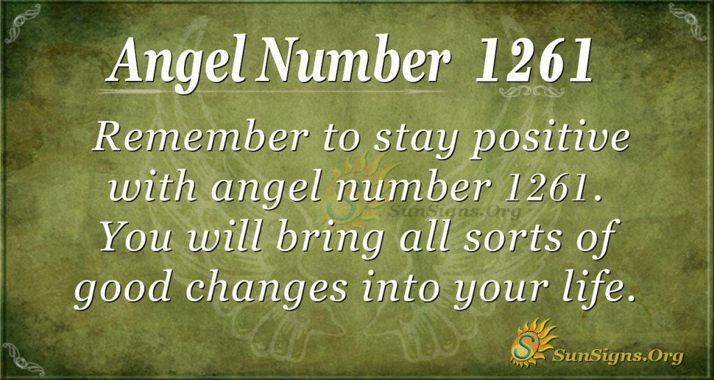 angel number 1261