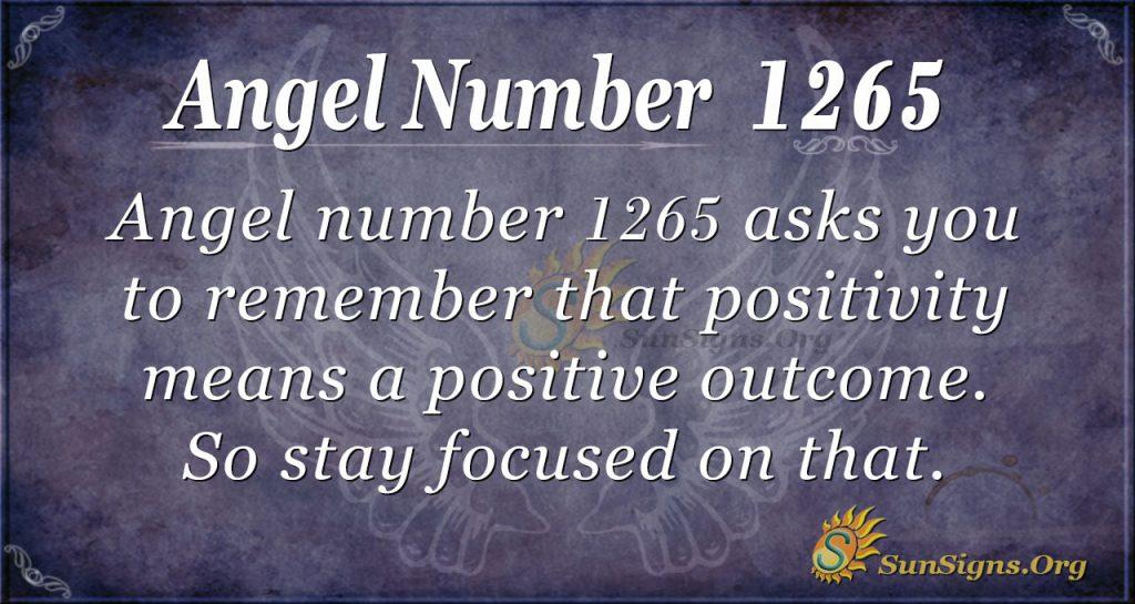 angel number 1265