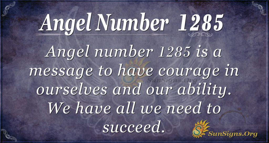 angel number 1285