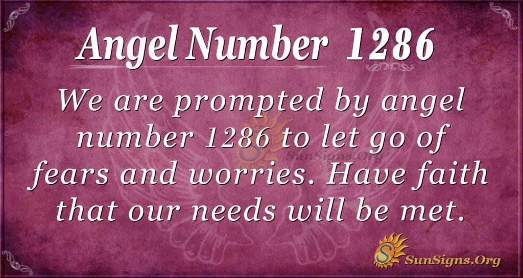 angel number 1286
