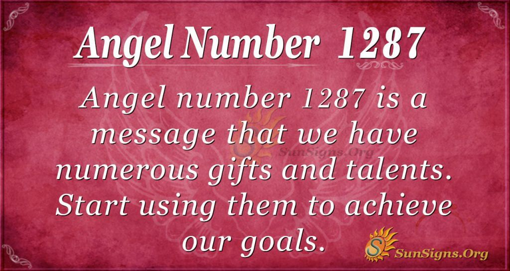 angel number 1287