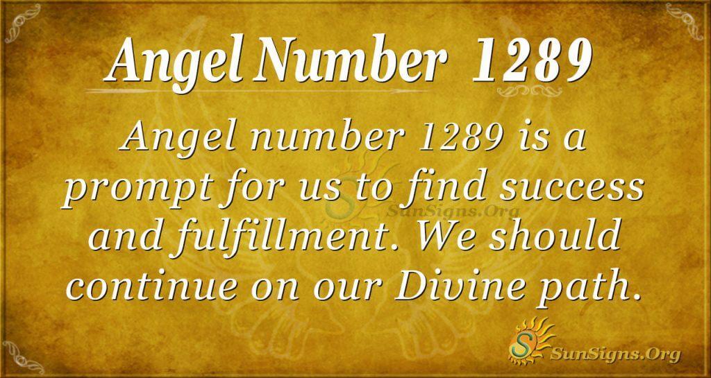 angel number 1289